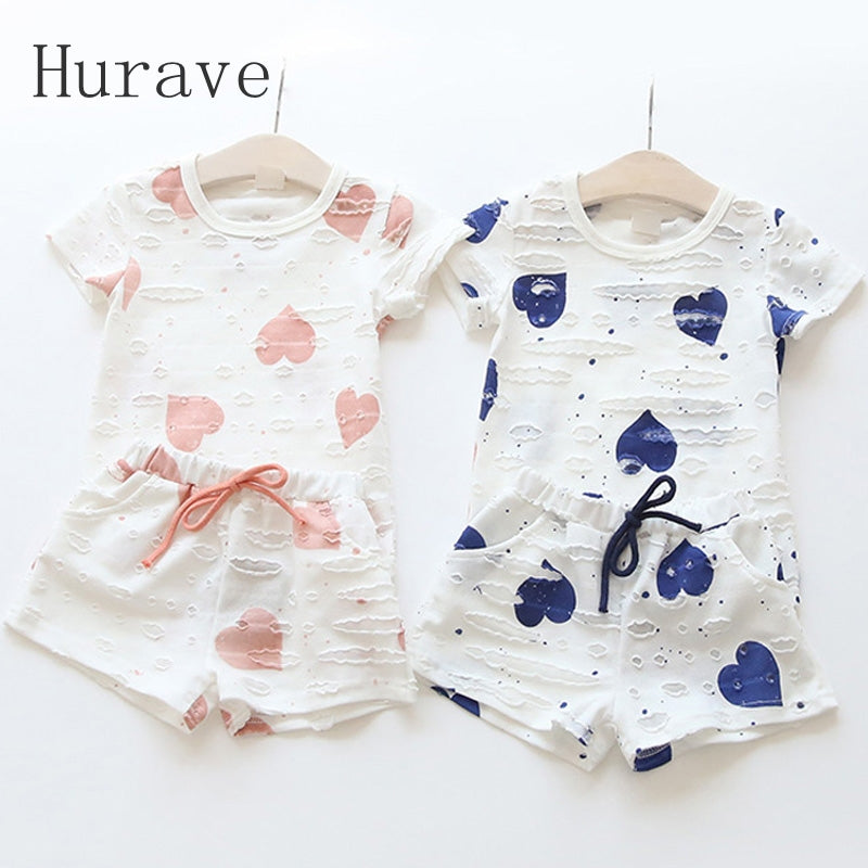 Summer Heart Printed Children's Clothing