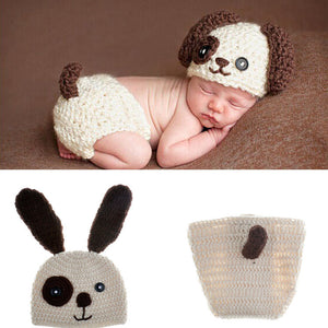 Puppy Dog Knitted Outfit For Newborn Babies
