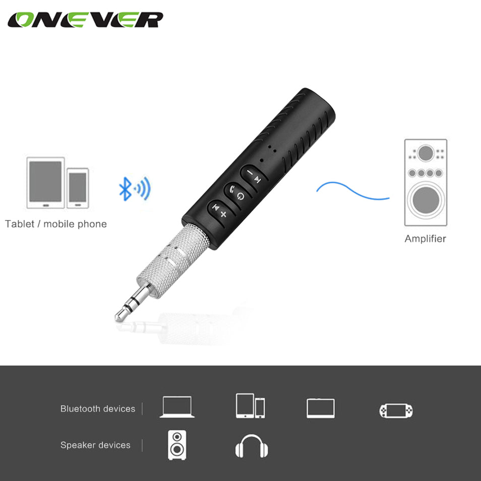 Universal 3.5mm Aux to Bluetooth Car Converter - Free + Shipping
