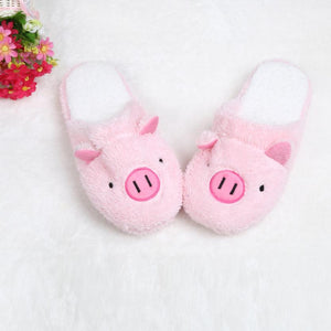Lovely Pig Home Floor Soft Stripe Slippers