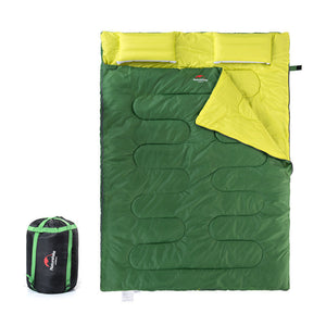 Double Cotton Sleeping Bag with Pillow