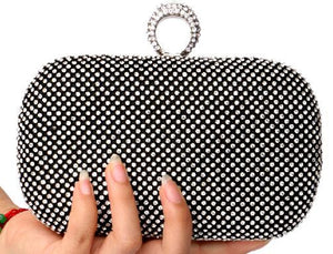 Diamond-Studded Evening Bag
