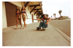 Wax Poster - Sidewalk surfer, Huntington beach, 1976