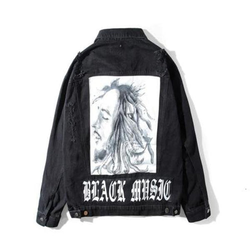 BLACK MUSIC DENIM JACKET
