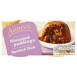 Spotted Dick Steamed Puddings  (x2)