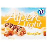 Light Bannoffee Cereal Bars 5bars 70 calories each