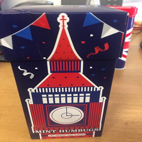 Mint Humbugs in Big Ben Gift Carton