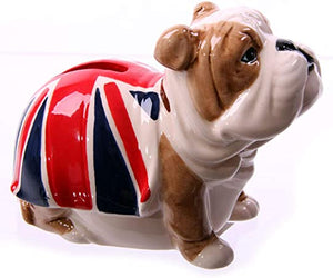 British Bulldog Ceramic Money Box