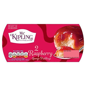 Raspberry Sponge Puddings 2x 95g