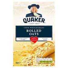 Quaker Oats 100% Wholegrain Rolled Oats 500G