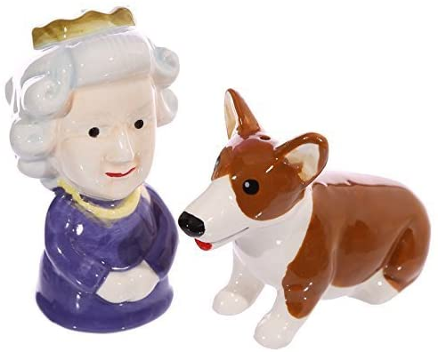 Queen & Corgi Salt & Pepper Pots