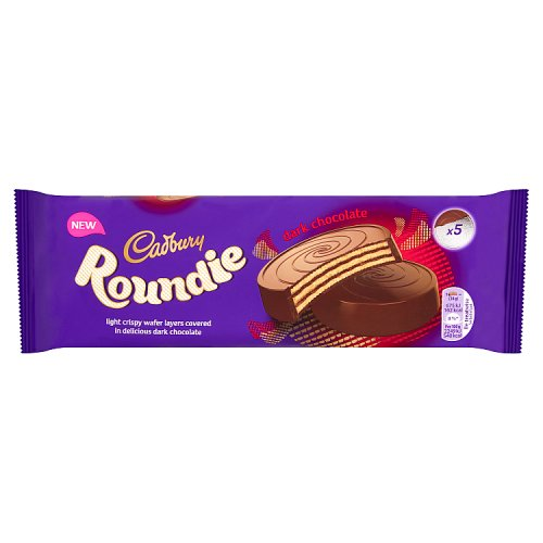 Roundie Caramel Chocolate Wafer Biscuits (5pk) - Proper UK Cadbury