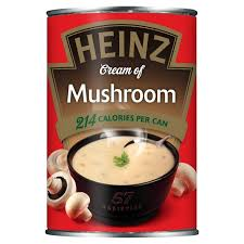 Cream of Mushroom only 214 Calories a can