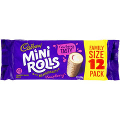 Chocolate Mini Rolls Raspberry Large Family Pack (12pack)
