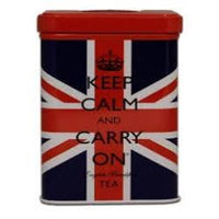 Keep Calm & Carry On Union Jack Tin with 40 English Breakfast Teabags