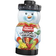 Bassetts Frosted Wine Gums Christmas Jar 495g