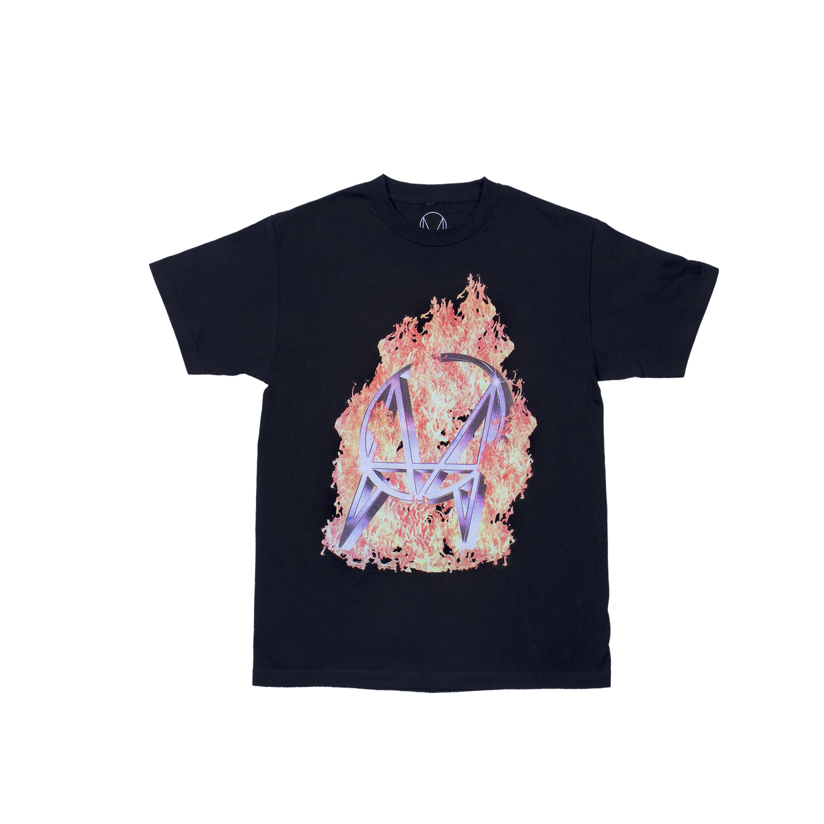 BURNING CHROME TEE - BLACK