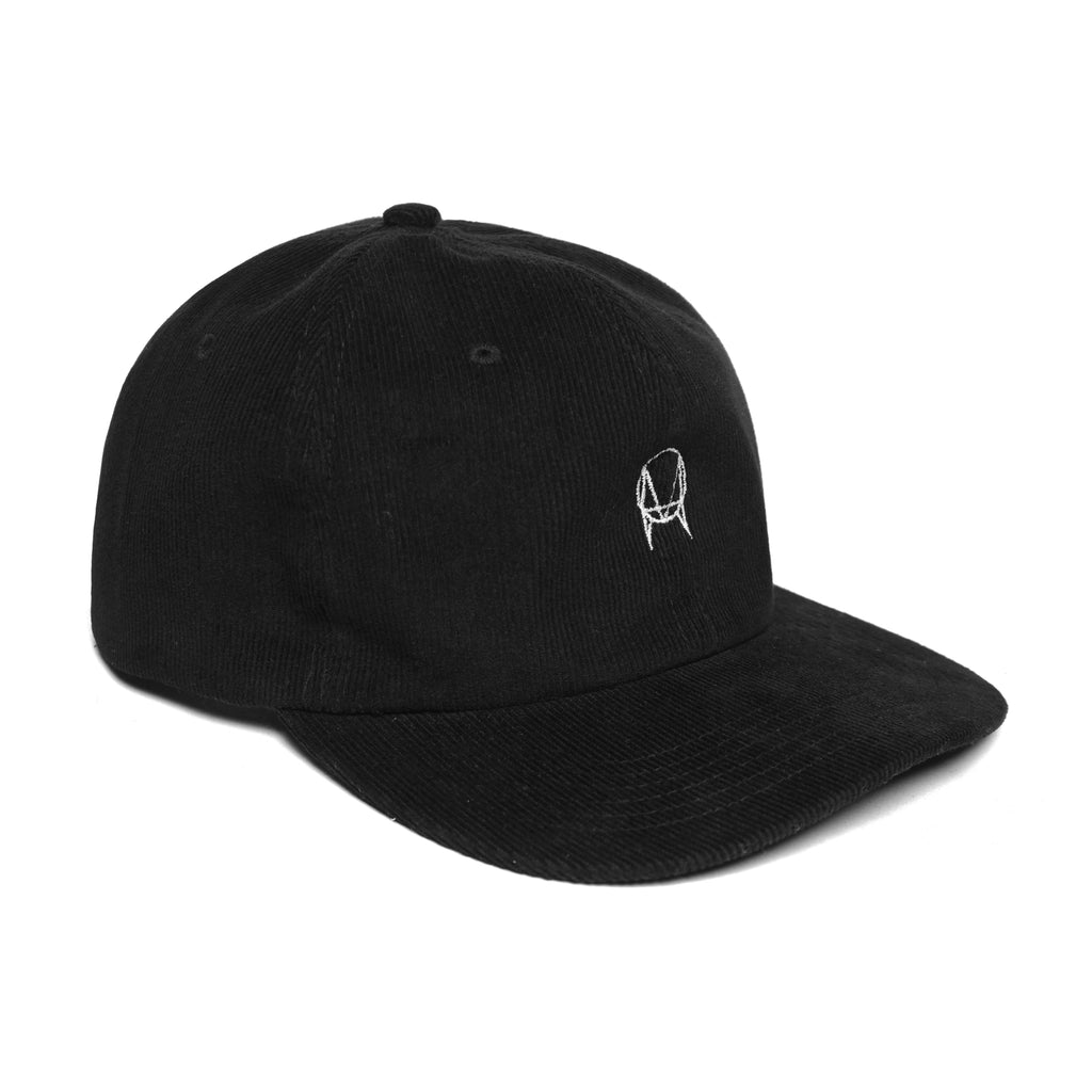 OWSLA CORDUROY 6 PANEL HAT - BLACK