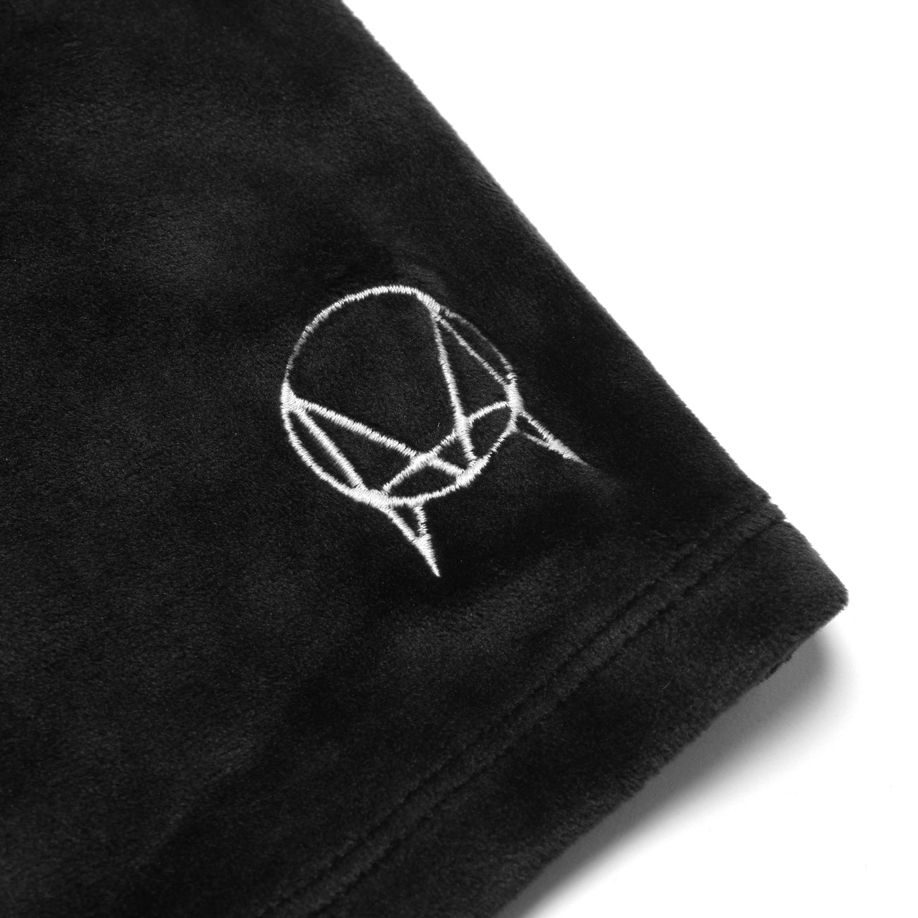 OWSLA VELOUR BIKE SHORTS - BLACK