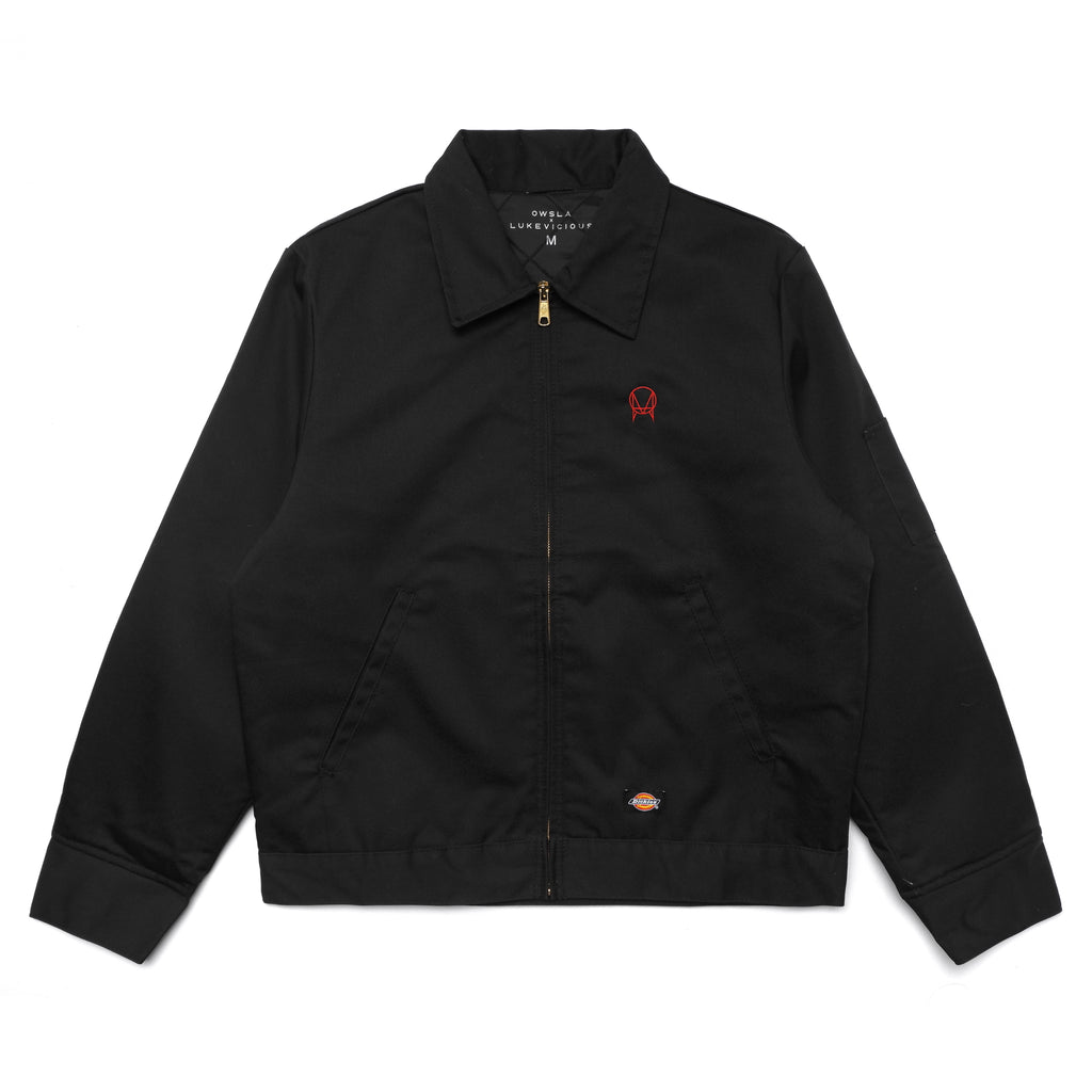 CUT OFF DICKIES WORKER JACKET - BLACK