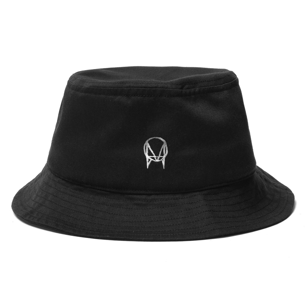 OWSLA WHITE LOGO BUCKET HAT - BLACK