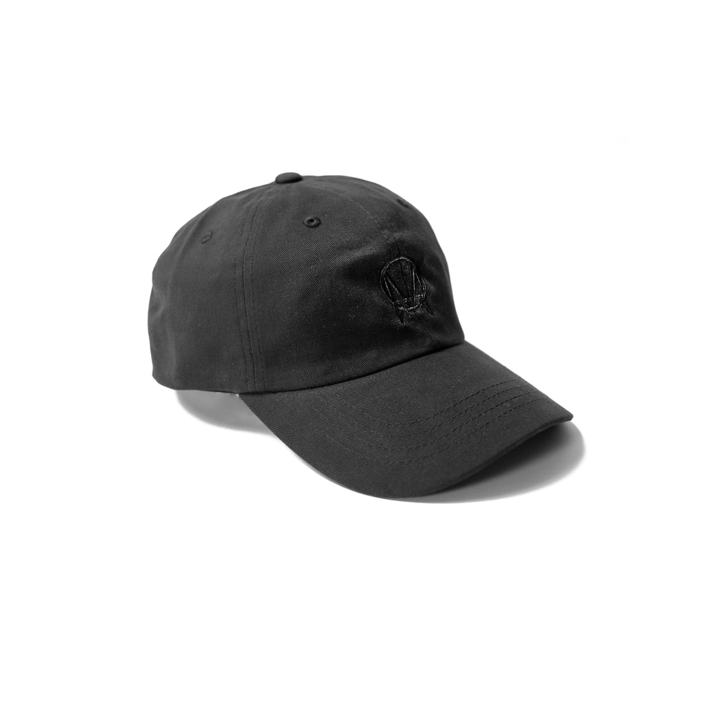 OWSLA BLACK LOGO PEACHED COTTON DAD HAT - BLACK