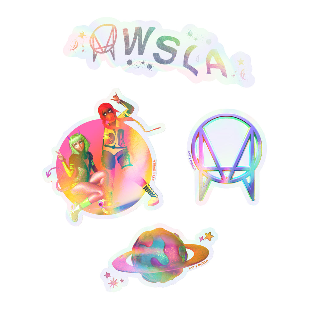 KYT X OWSLA STICKER PACK (4) - MULTI