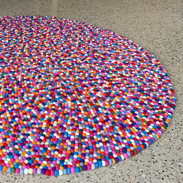 Full Felt Ball Rug - 120cm