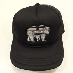 AlBearta Black on Black Trucker