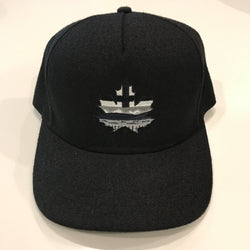 Alberta Maple Leaf Black Wool Snapback