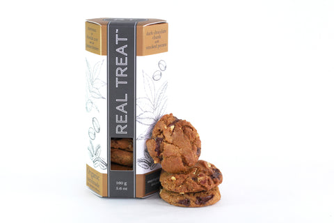 Real Treat Cookies: Dark Chocolate Chunk with Smoked Pecans