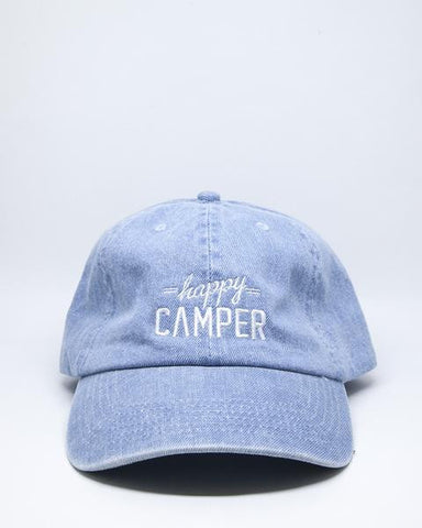 CBG HAPPY CAMPER DAD HAT - DENIM