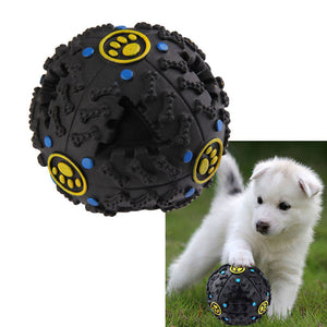 7.5cm Funny Pet Food Dispenser Toy Ball Dog Cat Squea for Dog Puppy Training Supplies