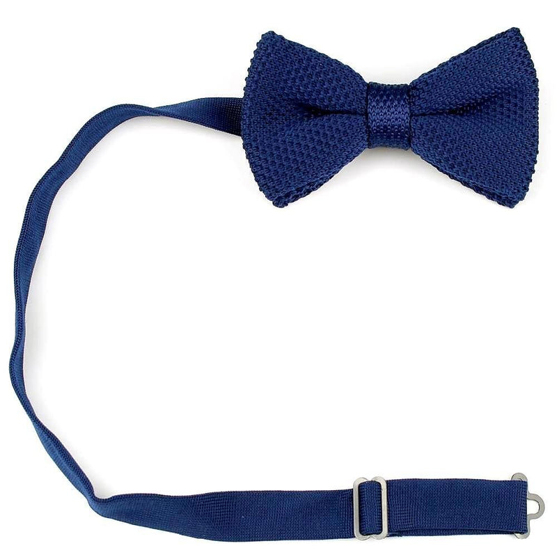 Knitted Bowtie - Navy Blue