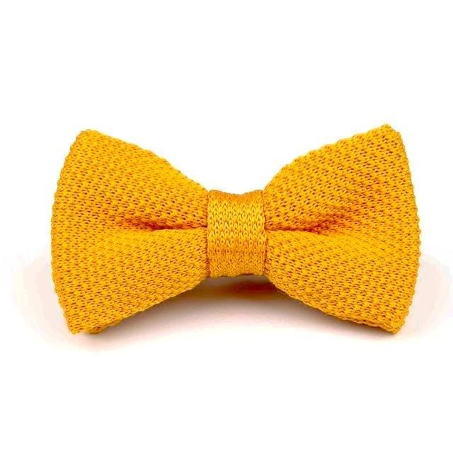 Knitted Bowtie - Yellow