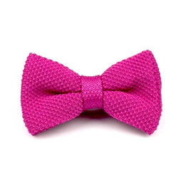 Knitted Bowtie - Fuchsia