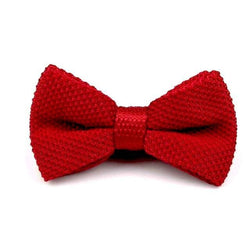 Knitted Bowtie - Red