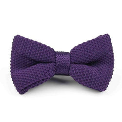 Knitted Bowtie - Purple