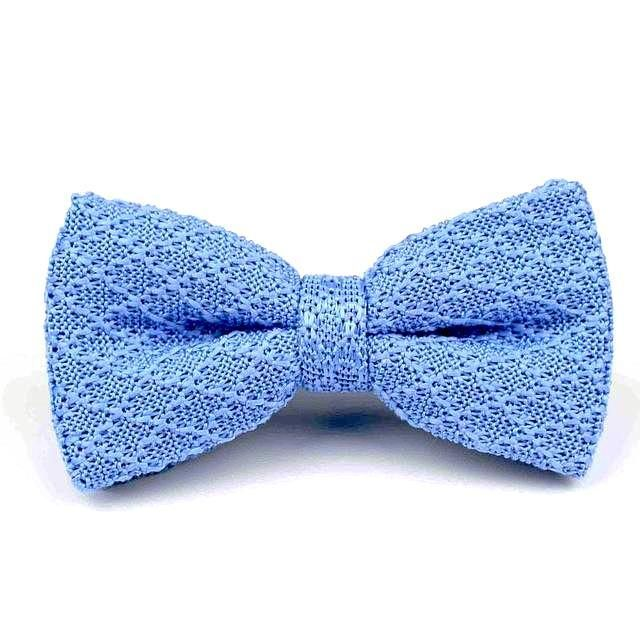 Knitted Bowtie - Light Blue