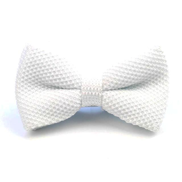 Knitted Bowtie - White