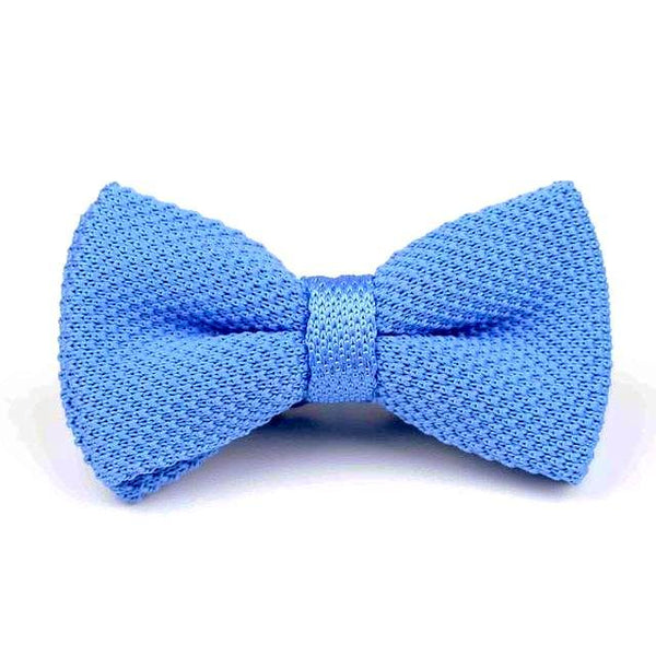 Knitted Bowtie - Baby Blue