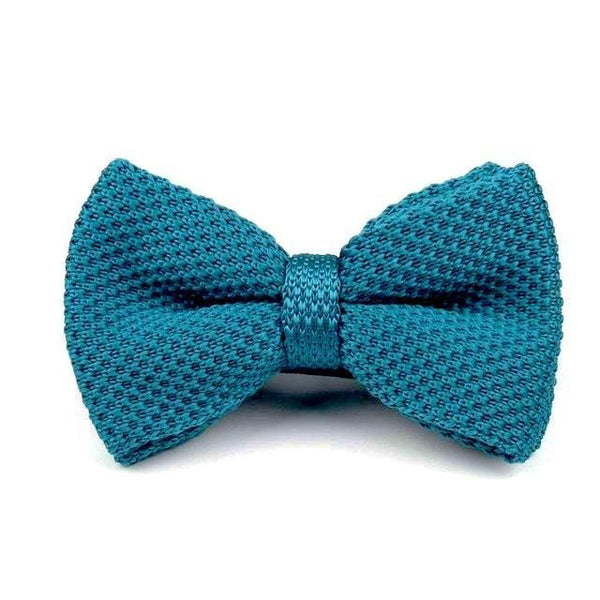 Knitted Bowtie - Turquoise