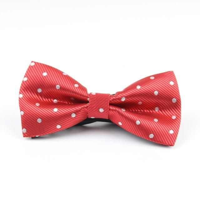 Celebration Bowtie - White/Flashy Red