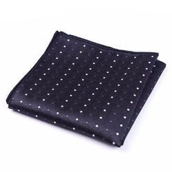 Formal Pocket Squares - Dark Polka Dot