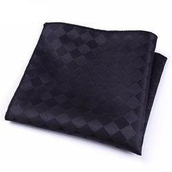 Formal Pocket Squares - Black Squares