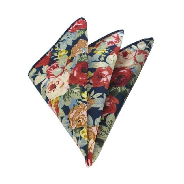 Floral Pocket Square - Light Flowers