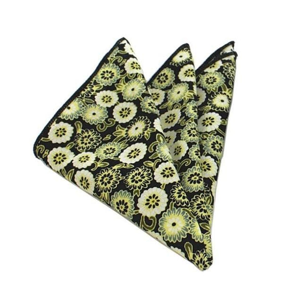 Floral Pocket Square - Green