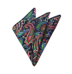 Floral Pocket Square - Blue/Green