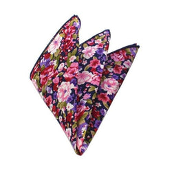 Floral Pocket Square - Violet