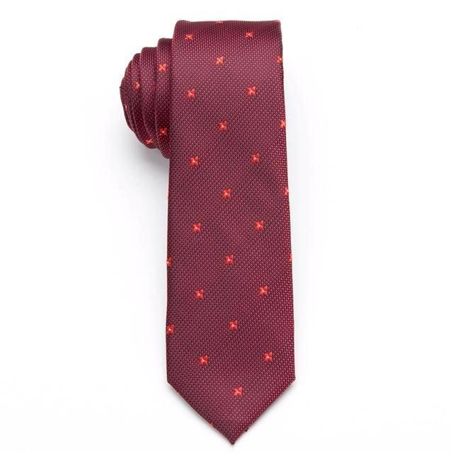 Skinny Business Tie - Red Diamond